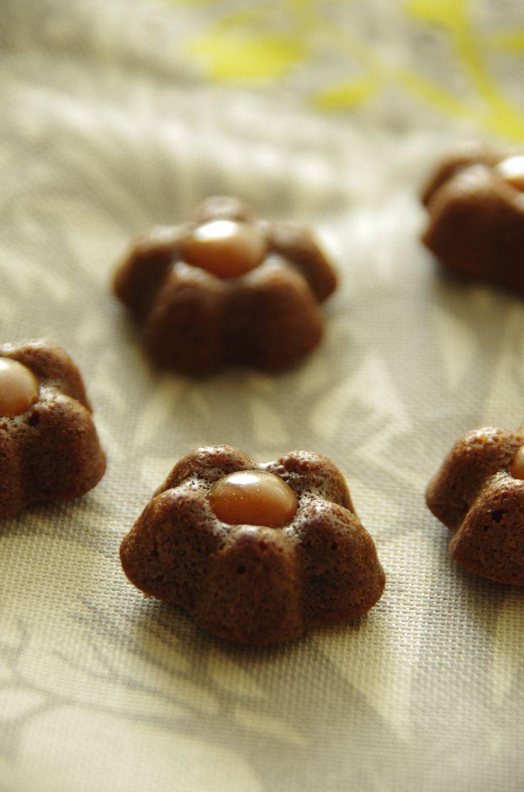 Petites bouchées chocolat et caramel beurre salé - Le blog de novice en cuisine