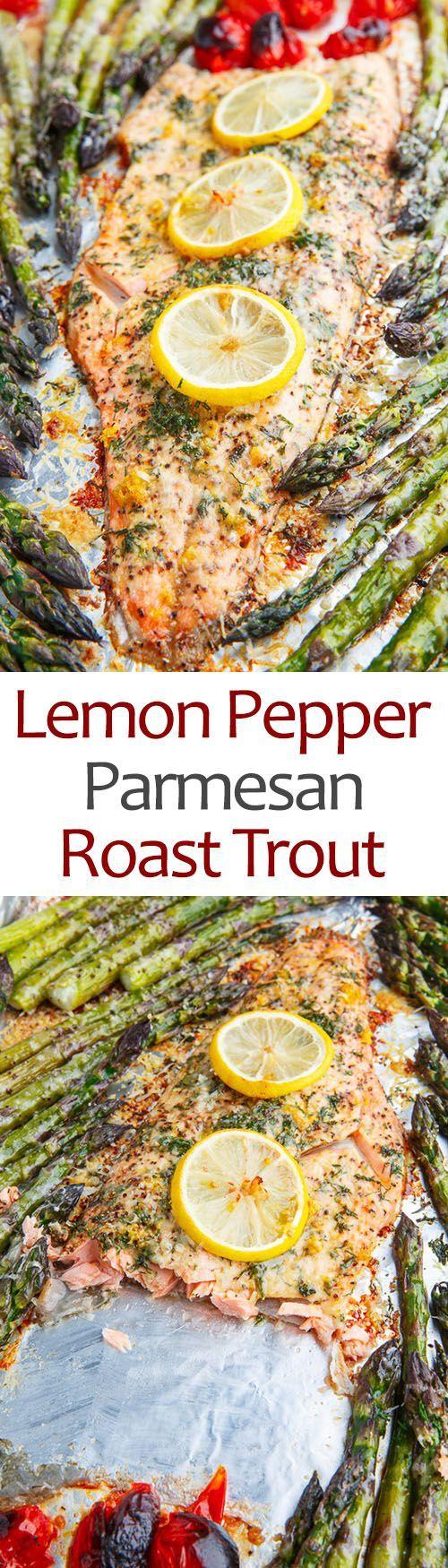 Lemon Pepper Parmesan Roast Trout