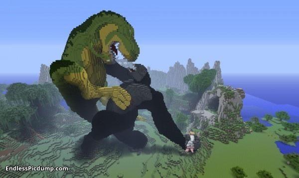 King Kong Vs Dinosaur Minecraft