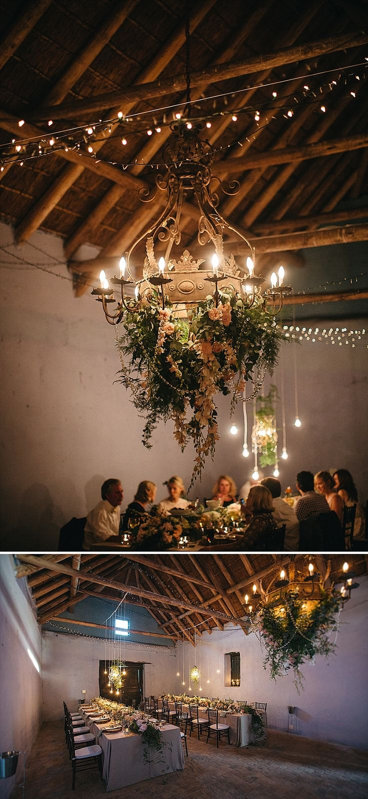 Lighting details in rustic-style farmhouse.