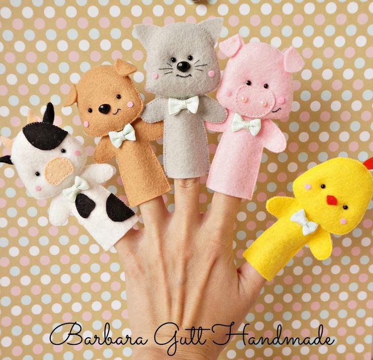 "Barbara Handmade...: Pacynki na palce -kolekcja ""Wiejska "" / Finger puppets -""Country "" collection"