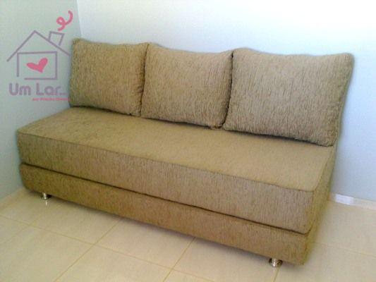 Um lar...: Um sofá-cama simples e prático!