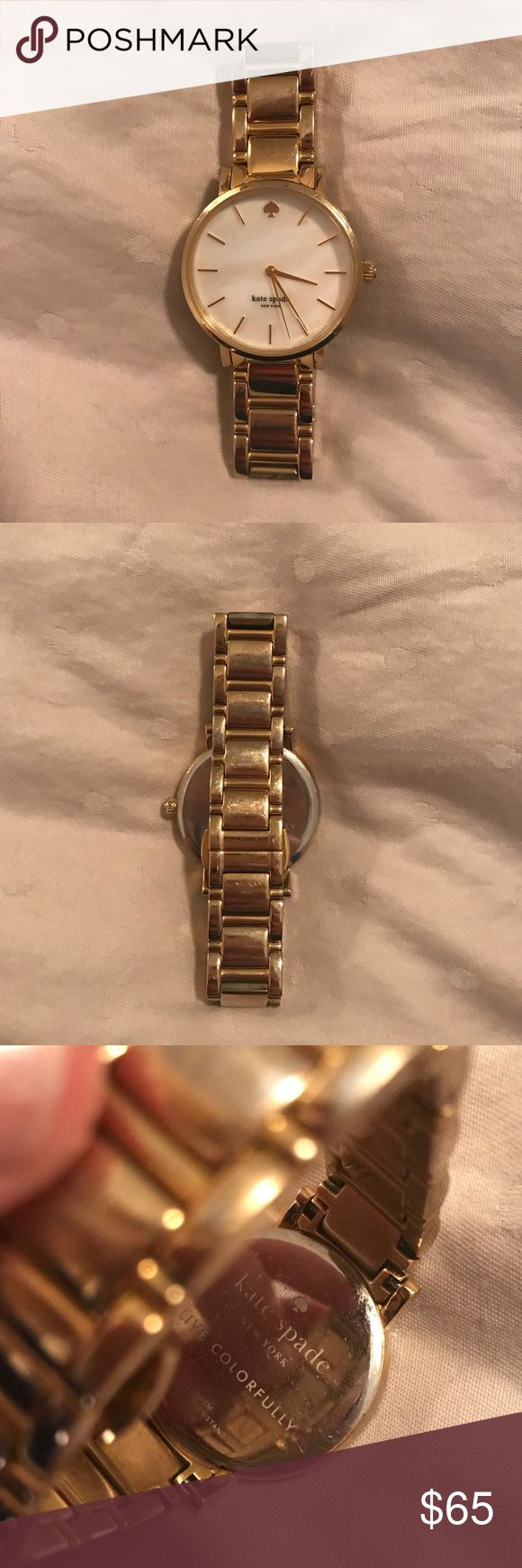 Kate Spade gold watch kate spade gold watch with pearl face. no noticeable signs of wear. excellent condition! kate spade Accessories Watches