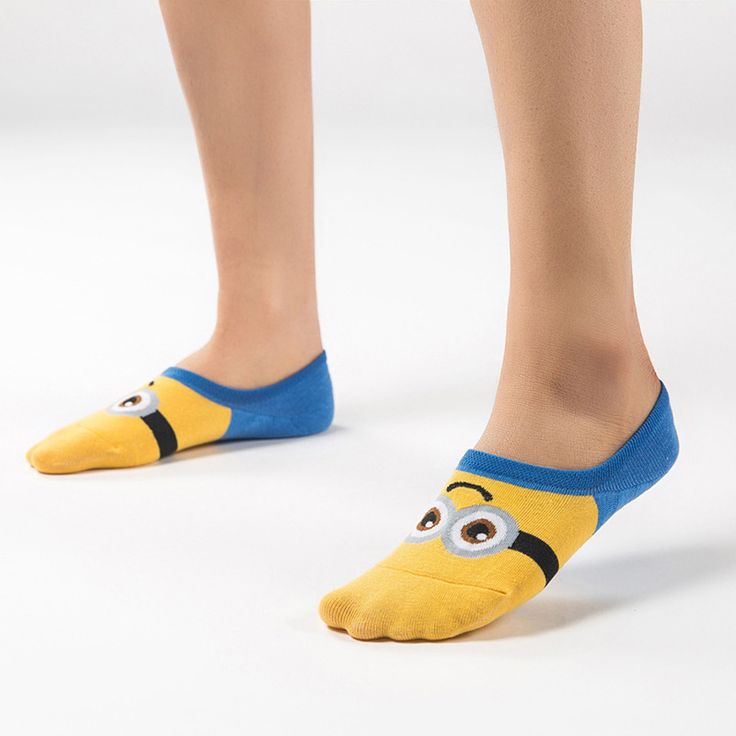 Summer Women Minions Sock Cute Cartoon Emoji  Fashion  3D Minion  Cartoon Characters Cotton Cute women socks