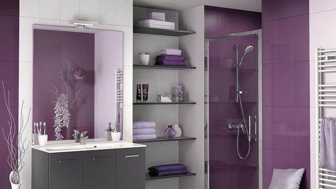 10 bons plans pour le rangement de la salle de bains  Photos, Mauve