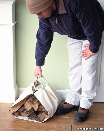 Firewood Carrier - Save time -- and your energy -- by hauling firewood in this handy carrier.