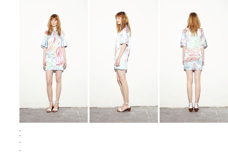 Wide sleeve shirt dress from silk with plastic bag printed pattern