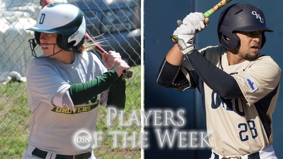 Oklahoma college Players of the Week - Mar. 30-Apr. 5, 2015