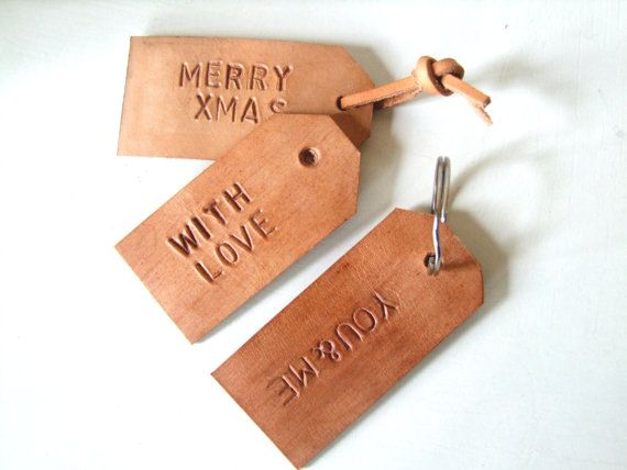 how to make personalized leather key tags