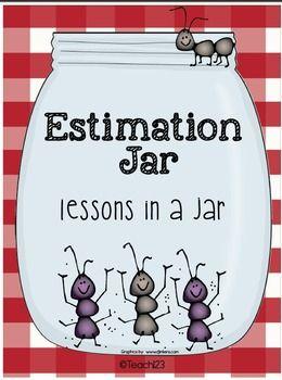 FREE Estimation Jar:  A Lesson in a  Jar