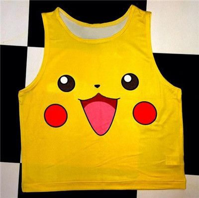 Alisister Cartoon Pokemon Tank Top Summer Women Sleeveless Shirt Top Cute Graphics 3d Vest Anime Crop Tops