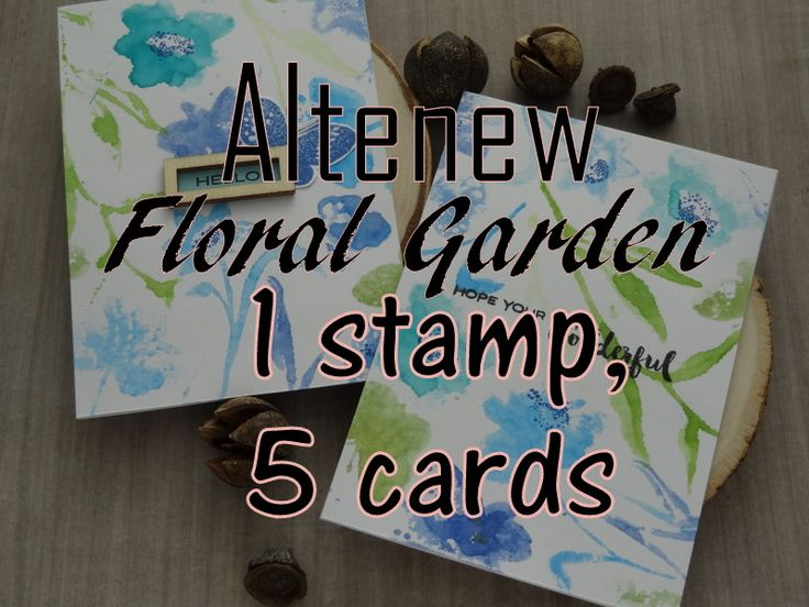 Beautiful ideas for using the Altenew Floral Garden Set From  the Altenew New Day  Card Kit   https://goo.gl/wTPpbx