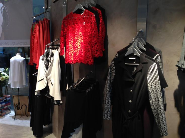 The Library Woman store based in Sydney's CBD. Loving all the red, black and white in-store! http://librarywoman.com.au