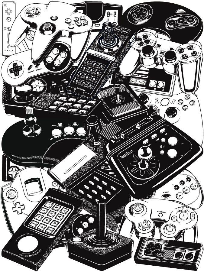Yves-José Malgorn – Retrogaming – Joysticks & Controllers   Geek Art – Art, Design, Illustration & Pop Culture !   Art, Design, Illustration & Pop Culture !