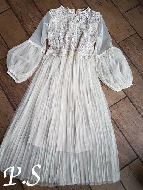 6182fce77df9 Романтичное, нежное женское платье (фатин кружево, миди, клеш ...