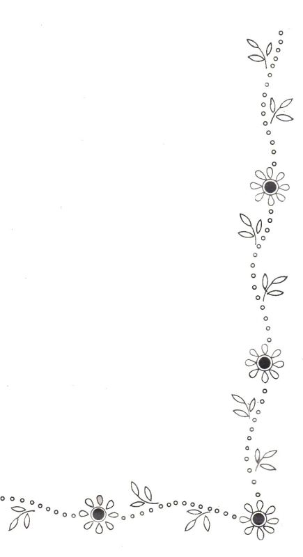 Daisy Flower Border- cute