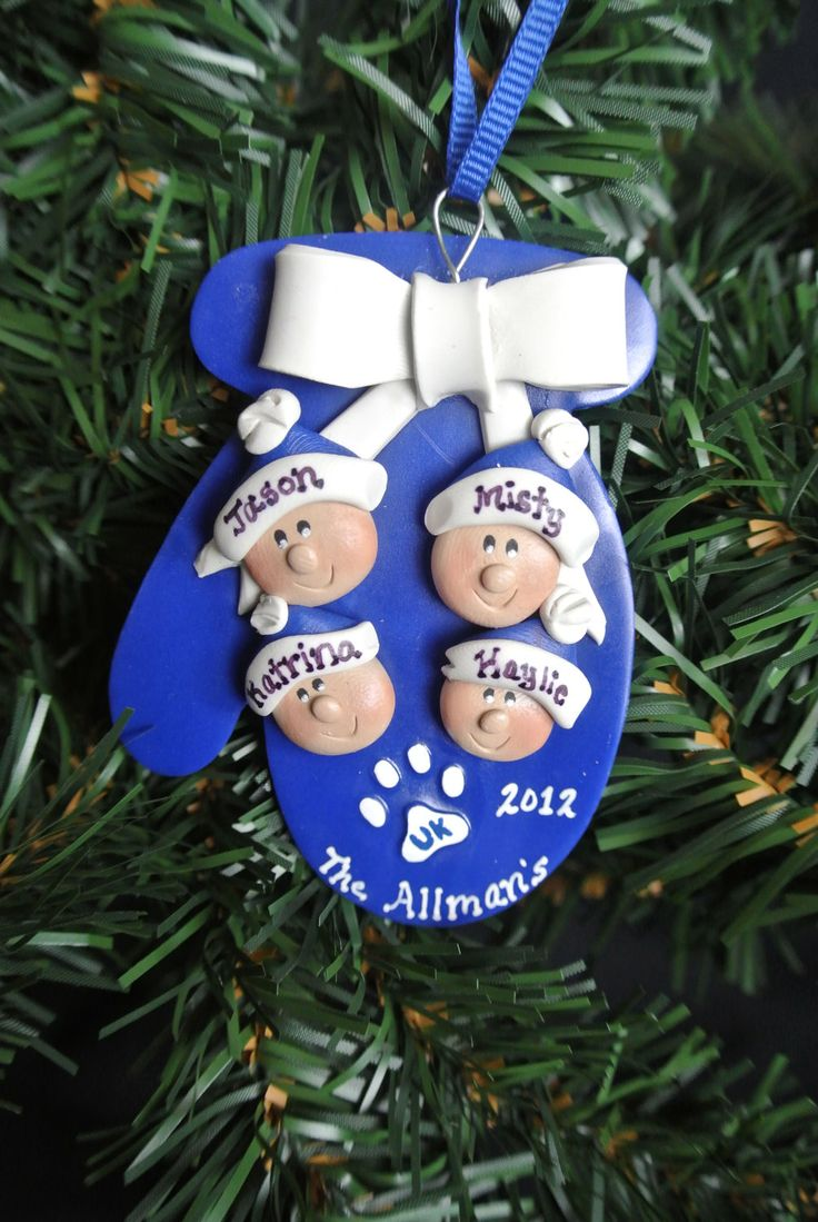 Personalized University of Kentucky UK Wildcats Family 2012 Christmas Ornament.