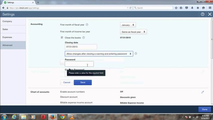 Close an Accounting Period in QuickBooks Online