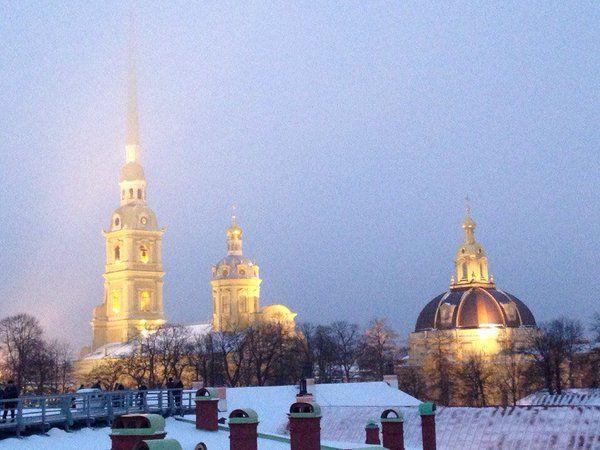 Петропаловская крепость в любое время года прекрасна )) #Россия #Питер