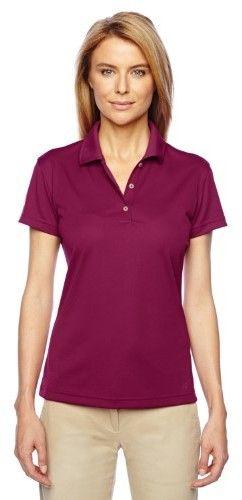 adidas Ladies ClimaLite Basic Polo Shirt. A131 Tribe Berry / White S