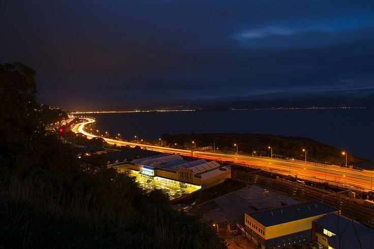 A photo of Ngauranga to Aotea by night | Explore New Zealand's first smart motorway| Flickr.