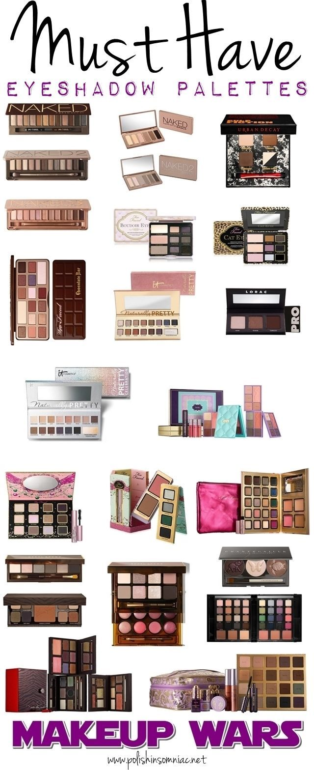 polish insomniac: Makeup Wars - Must Have Eyeshadow Palettes (with swatches of IT Cosmetics Naturally Pretty Celebration & Tarte Away Oui Go)