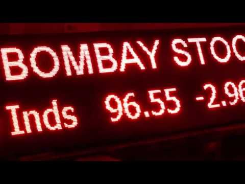 led stock exchange ticker bse nse outdoor