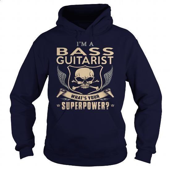 BASS GUITARIST-SUPER - #design t shirt #mens t shirt. ORDER NOW => https://www.sunfrog.com/LifeStyle/BASS-GUITARIST-SUPER-Navy-Blue-Hoodie.html?60505