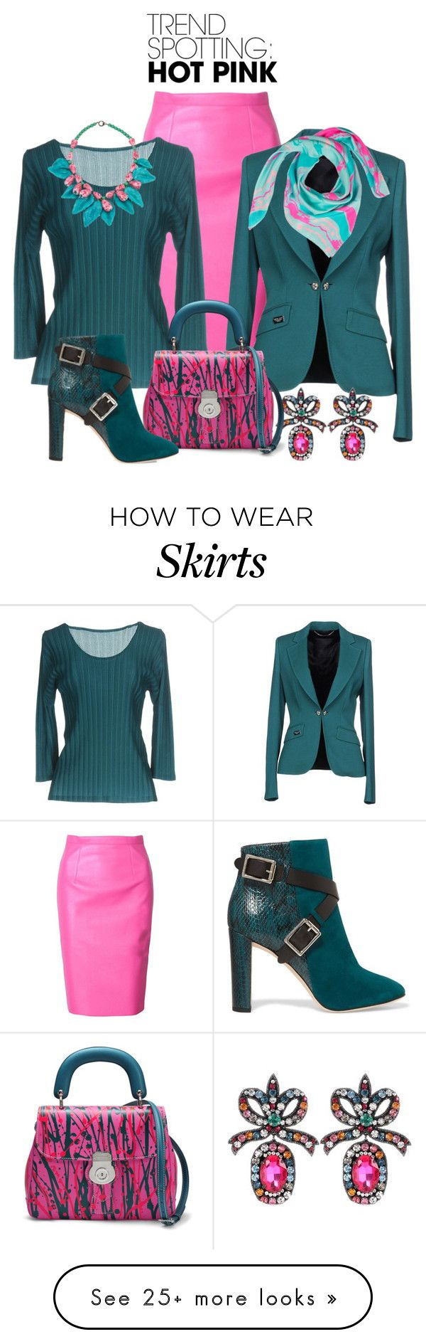 """Pinky Promise You Will Look Good"" by shamrockclover on Polyvore featuring WithChic, Philipp Plein, Gucci, Pleats Please by Issey Miyake, Burberry, Jimmy Choo, Liz Nehdi, contestentry, emeraldgreen and winterscarf"