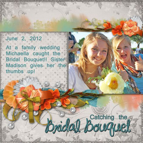Catching the Bridal Bouquet, digital layout by Judith51: Digital Scrapbook Layout, Scrapbook Ideas, Cat, Photos Ideas, Bridal Bouquets, Photo Ideas, Digital Layout, Theme Digital, Digital Scrapbooking Layouts