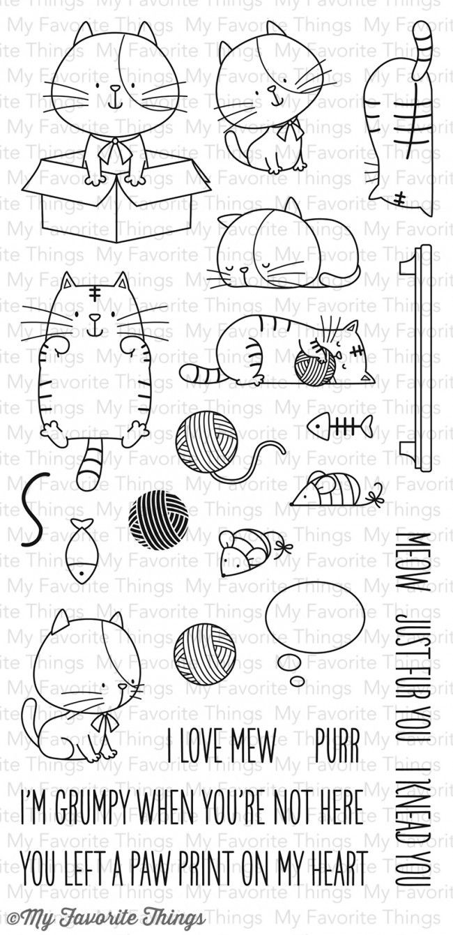 "My Favorite Things Birdie Brown ""I Knead You"" Clear Stamp Set"