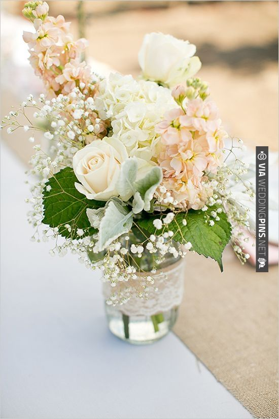 mason jar floral ideas | CHECK OUT MORE IDEAS AT WEDDINGPINS.NET | #weddings #weddingflowers #flowers