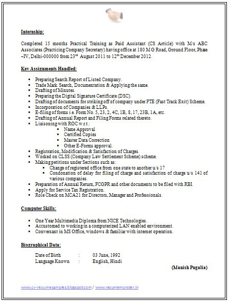 Best 25+ Company secretary ideas on Pinterest Job resume format - secretary resume template