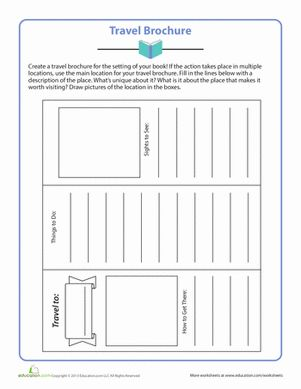 Fifth Grade Comprehension Worksheets: Travel Brochure Use for ancient civilizations.