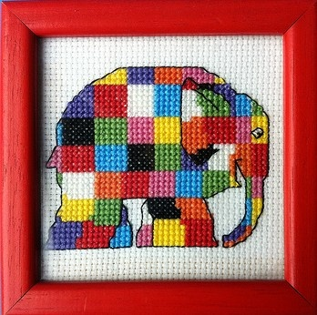 elmer the elephant cross stitch