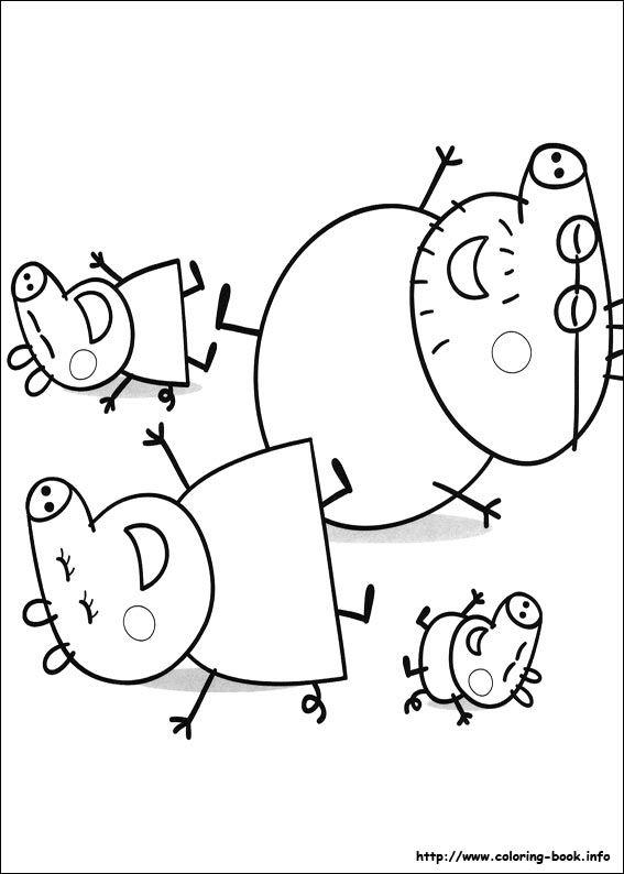 Poner dibujos varios de peppa con lapices de colores en una mesita