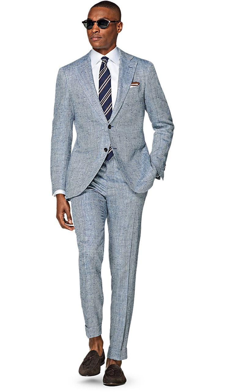 Suit Blue Herringbone Jort P4073i | Suitsupply Online Store Suit Supply  Mens Fashion | #MichaelLouis - www.MichaelLouis.com