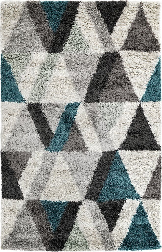 Trans Ocean Andes Triangle Teal Area Rug By Liora Manne With