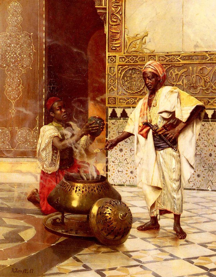 Dans l'Alhambra, Rudolph Ernst ( 1854-1932), 1888.