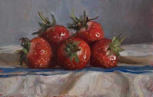 daily painting titled Fraise de Carpentras