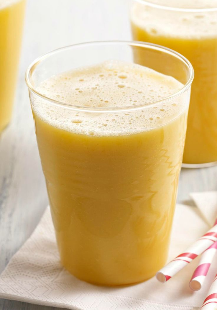 Pineapple-Orange-Mango Smoothie -- Harness tropical mango, pineapple and orange flavors in this 5-minute, healthy living smoothie recipe.