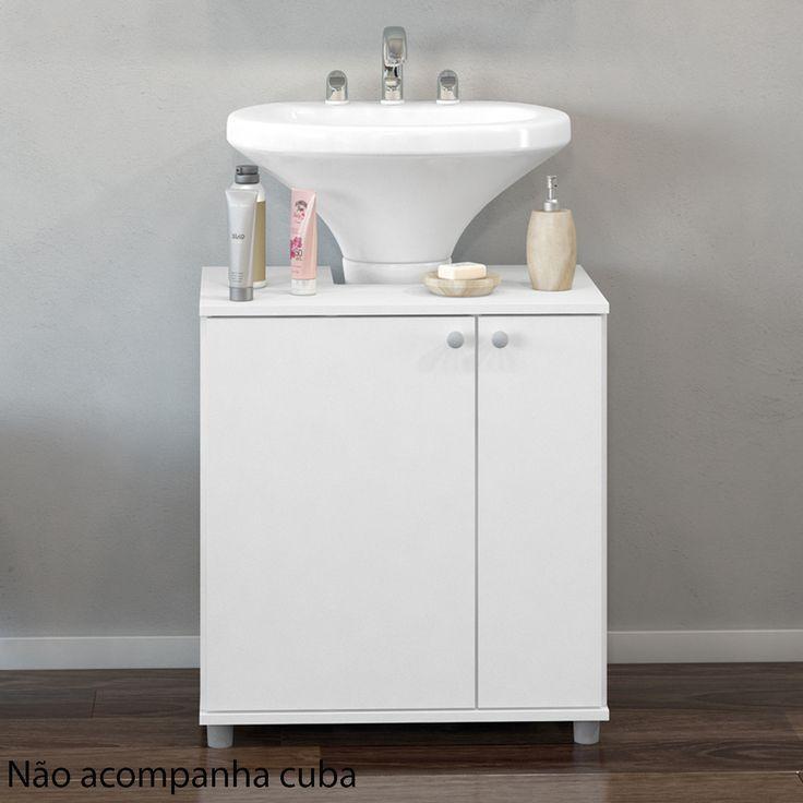 Para banheiros compactos e para deixar a decoração mais bonita, o gabinete com espaço para coluna da pia é ótima opção!  #decoração #design #madeiramadeira