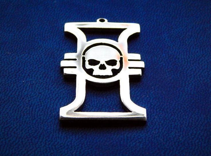 Inquisition insignia Warhammer 40k necklace or keychain stainless steel / insignia pendant / Warhammer cosplay /…