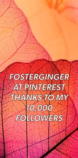 ✖️FOSTERGINGER AT PINTEREST ✖️ 感謝 / 谢谢 / Teşekkürler / благодаря / BEDANKT / VIELEN DANK / GRACIAS / THANKS : TO MY 10,000 FOLLOWERS✖️