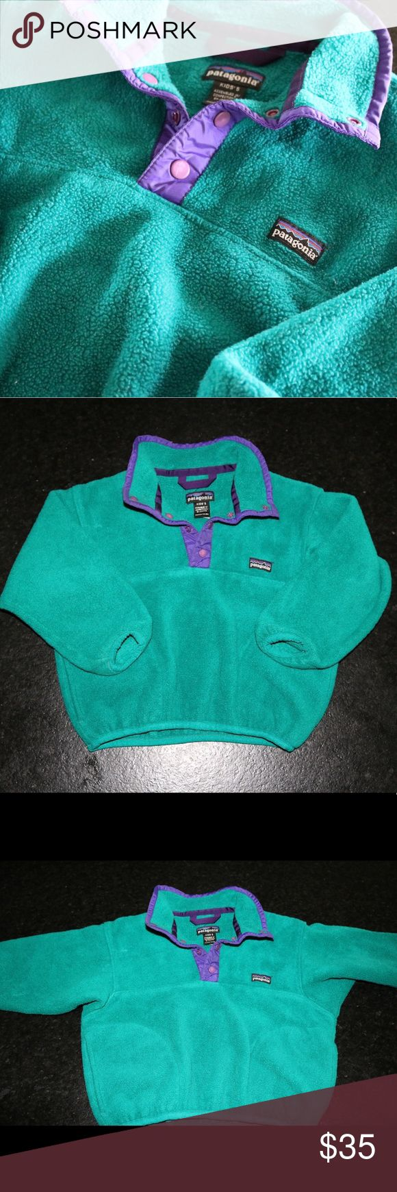 Kids Vintage Patagonia Pullover * Worn multiple times, but still in great condition! * Only sign of wear is name written on back of the tag * Perfect Toddler Pullover for cold months * Patagonia is a great brand that will never go out of style! * If you have any questions please feel free to leave a comment below Patagonia Jackets & Coats