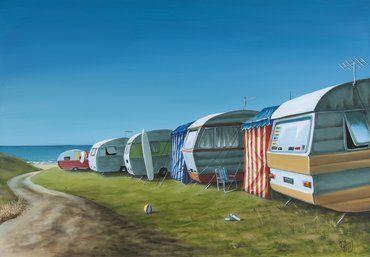 Artfind.co.nz - Artwork - Caravan Avenue by Graham Young
