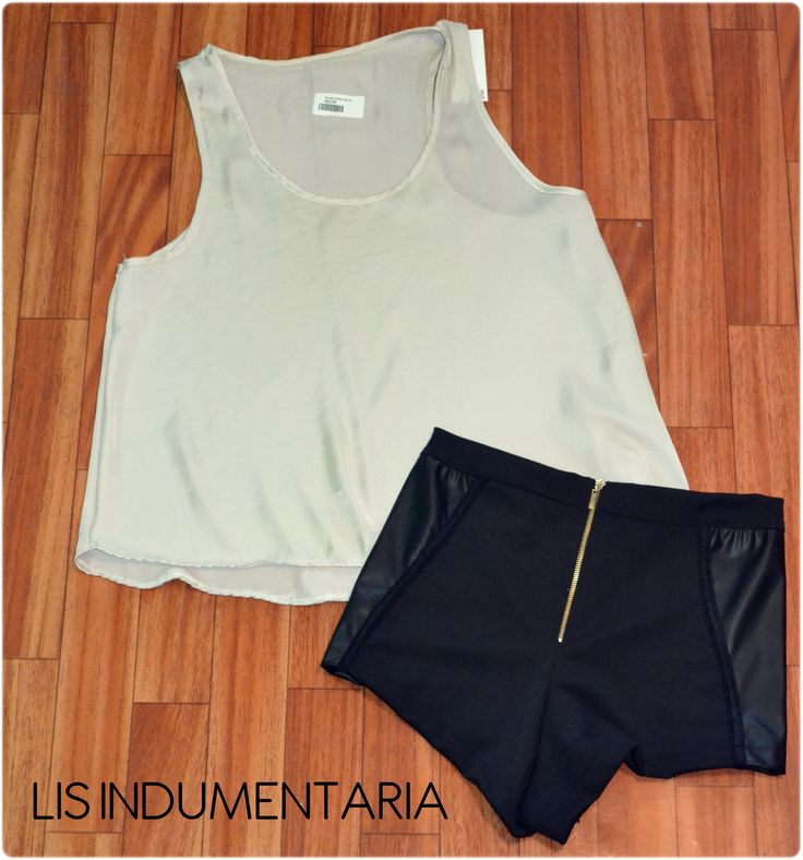 Muscu saten blanca. Short rocket negro.