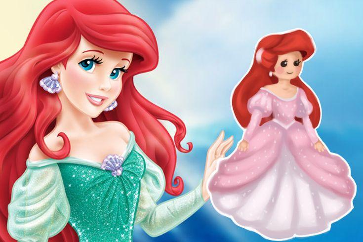 How to draw disney princess ariel chibi version the
