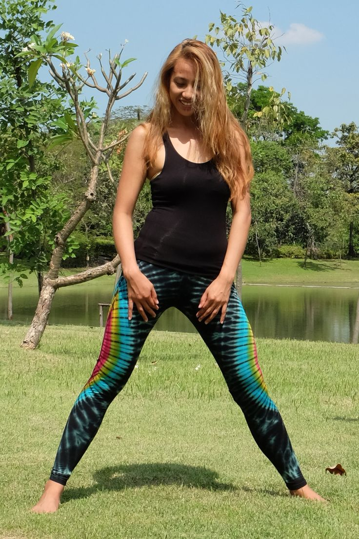 Sunflower with Galaxy Tie dye Leggings made with cotton rayon blend. Super comfy and great for yoga, pilates, exercise, or just to lounge around in.  Size M (FS)  Waist: Up to 35 Inch Hip: Up to 39 Inch Inseam: Up to 32 Inch