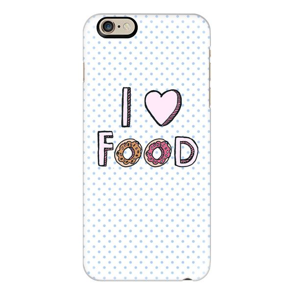iPhone 6 Plus/6/5/5s/5c Case - I Love Food ($40) ❤ liked on Polyvore featuring accessories, tech accessories, iphone case, apple iphone cases, slim iphone case and iphone cover case